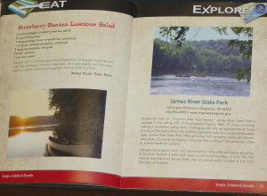 Information on James River State Park includes favorite recipes from the Fall Festival.