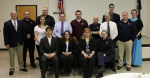 Numerous volunteers ran over 100 calls for service during 2015. Pictured are, from left, front row, Andrew Watters, Jessica Cambridge, Terri Bailey, Kelly Wagner, middle, Amy Rowan, Bill Hogan, Will Echols, Richard Pence, Richard Broadwater, Adam Wagner, back, Ryan Cambridge, Bryan McQueen, Chris Rowan, Nat Carter and Jolene Eicher.