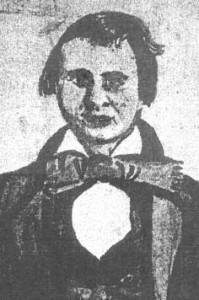 Folk artist Lewis Miller, did this sketch of his nephew, Charles T. Edie, shortly before Edie's death.
