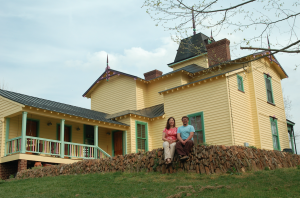 Alecia Daves-Johnson and her husband, Gordon Johnson, are pleased with the historic Stanley Park mansion they disassembled and restored that now serves as the family home.