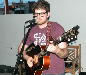 Chip Hale provided music during the party at the Farmville Community Marketplace. (Photo by Titus Molher)