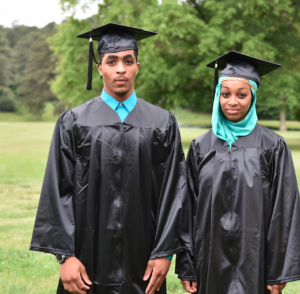 Pictured are, from left, brother and sister Irshaad Ali and Safiyyah Ali, of Prince Edward.