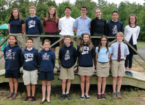 Several middle school students received Challenger Fitness awards. Pictured are, from left, front row, Brianna DeMaio, Robert Raymond, Julianna Crawford, Luke Ogden, Emma Bickford, Raven Gaulding, Caleb Walter, back row, Jaclyn Slaughter, Chad Jones, Mattie Kitchen, Josh Tharpe, Lakkun Mina, Annabelle Green, Christopher Espinoza and Amelia Irausquin.