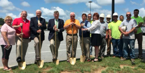 FARMVILLE AREA CHAMBER OF COMMERCE The Farmville Area Chamber of Commerce, members of the Farmville Town Council and members of the Murphy USA construction team recently helped kick-off the groundbreaking for the new Murphy USA gas station construction on Peery Drive. Pictured are, from left, Patricia Newsome, John Addis, Greg Cole, David Whitus, Gerald Spates, David Holton, Joy Stump, Wingy Moore, Andrew Hass, John Hass, Luke Hass, John Fosse, Derek Adam and Donald Palmore.