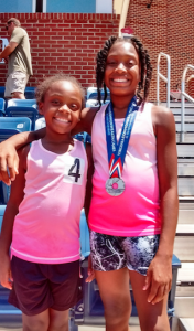 JAMES BAKER Saye Woodard, right, and Truth Woodard competed in the Commonwealth Games over the weekend in Lynchburg.