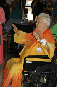 JORDAN MILES | HERALD Elizabeth Layne, who's lived in Charlotte County for 50 years, and a Centra PACE participant, was named Prom Queen on Friday, the second day of PACE's senior prom.