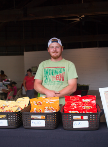 CARSON REEHER | HERALD Red Porter sells Shorty's products. He also helps with the Kid Corner.