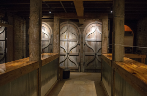 CARSON REEHER | HERALD Bars constructed from repurposed wood fill the new Virginia Tasting Cellar.