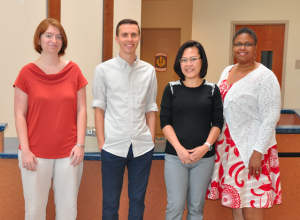 New Cumberland High School teachers pictured are, from left, Rachel Taylor, Trae Shidell, Gabriela Ancajas and Cora Tolliver (returning assistant principal).