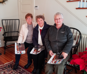 "CHAMBER OF COMMERCE Visiting with each other during Saturday's Farmville Area Chamber of Commerce Holiday Tour of Homes are, from left, Deanna Purser, Roberta Foster and Betty Vanderpool as they visit the ""White House"" at 900 High St."