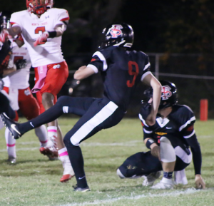 KAREN SMITH PHOTOGRAPHY Fuqua School junior Nick Fariss drew selections to the VISAA Division III all-state first team as both a kicker and a punter.