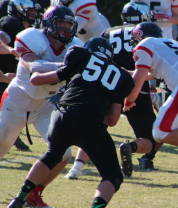 JULIE ADAMS Fuqua School senior Brad Davis made the VISAA Division III all-state first team cut as both an offensive and defensive lineman.