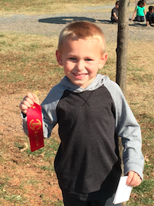 Buckingham Primary School student Collin Snoddy won second place in the kingergarten-first grade category.