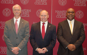 MARTIN L. CAHN | HERALD State Senate District 22 candidates, from left, Republican Mark Peake, independent Joe Hines and Democrat Ryant Washington stood on stage for a few moments after the recent forum ended before greeting supporters.