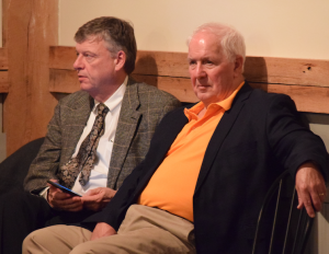 BRIAN KLINGENFUS | HERALD Farmville Town Manager Gerald Spates, left, and Mayor David Whitus attended the event.