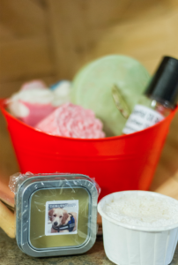 Pictured are a sampling of products available through Webb's Clean Living Soaps with 10 percent of sales going to the Southside SPCA.